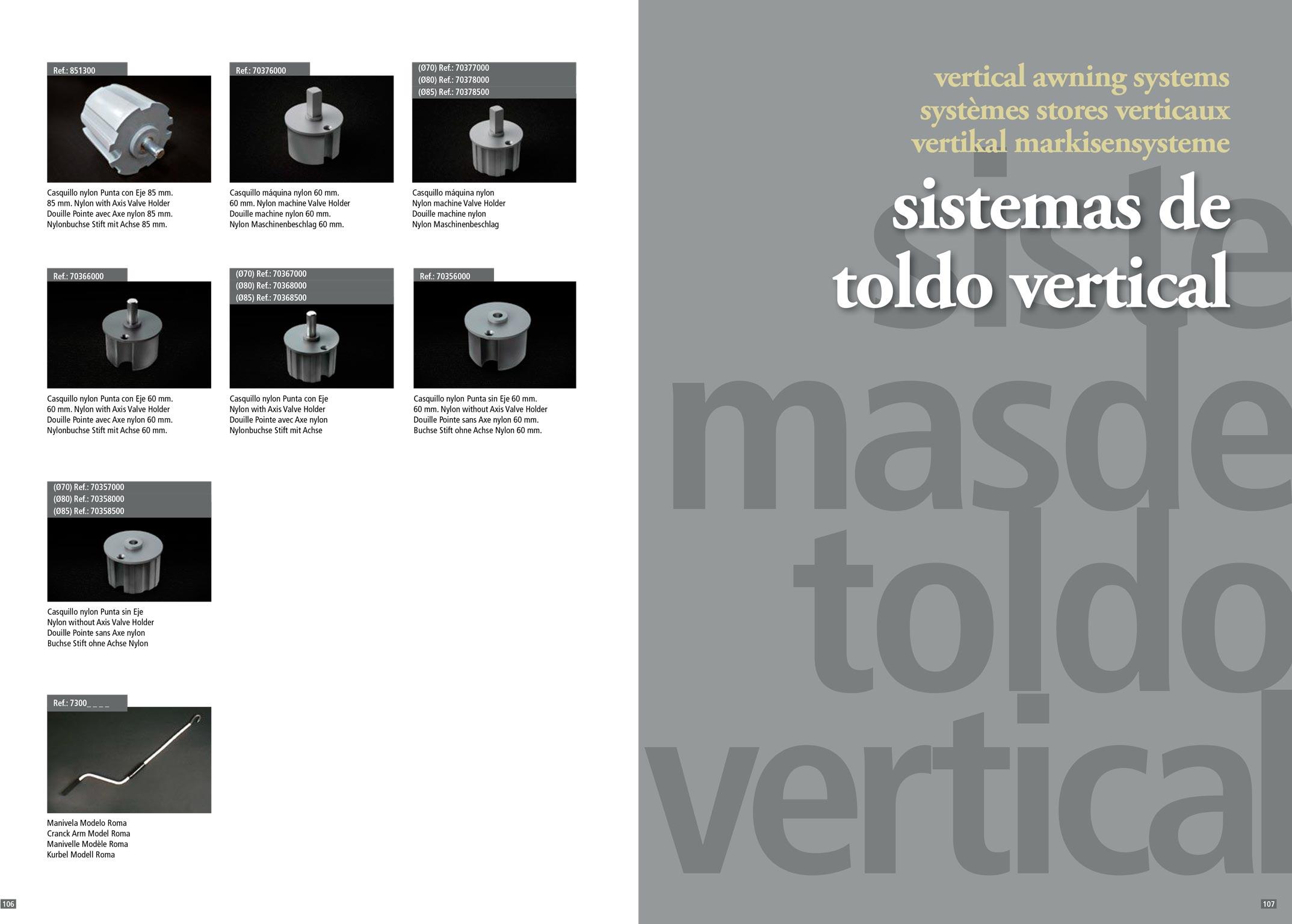 Accesorios para toldos y verticales stadia store for Repuestos y accesorios para toldos